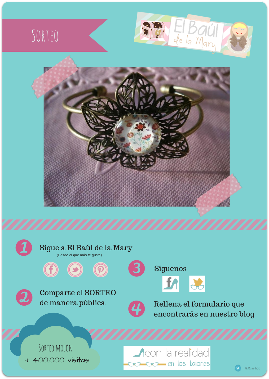 El baúl de la Mary - brazalete big flower SORTEO