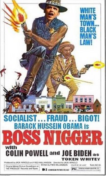 Funny Obama Spoof Movies - Boss Nigger, with Colin Powell and Joe Biden as Token Whitey