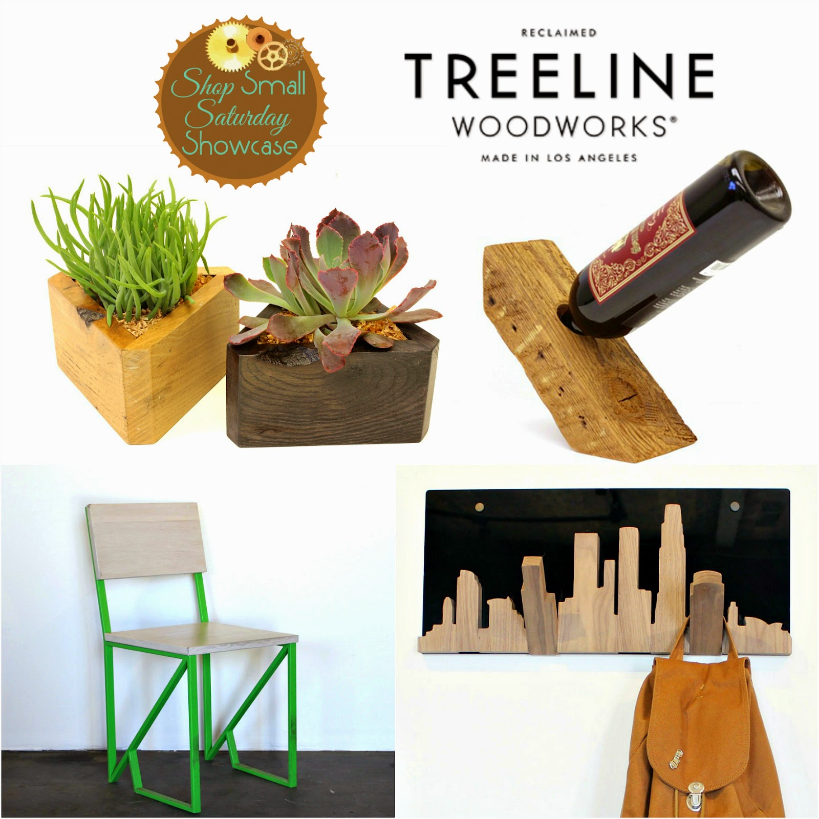 Treeline Woodworks feature & GIVEAWAY on Shop Small Saturday Showcase at Diane's Vintage Zest!