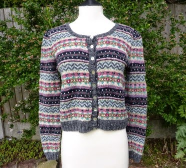 Yellow, Pink and Sparkly: Kate - Fair Isle Cardigan - Finished