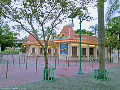 Disneyland Ticket Booths early morning resort Frost