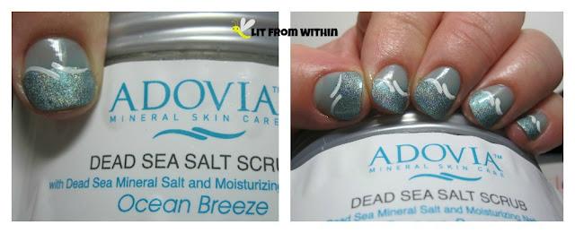 mani inspired by Adovia Dead Sea Salt Scrub