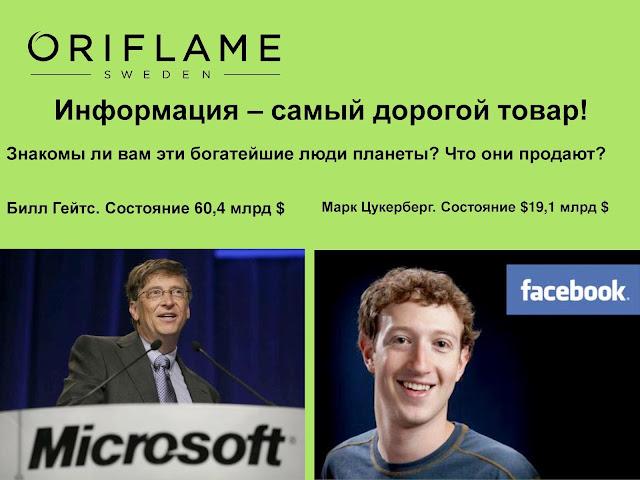 Майкрософт Билла Гейтса и Фейсбук Марка Цукерберга