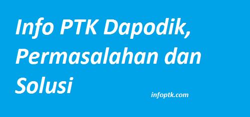 Info PTK Dapodik