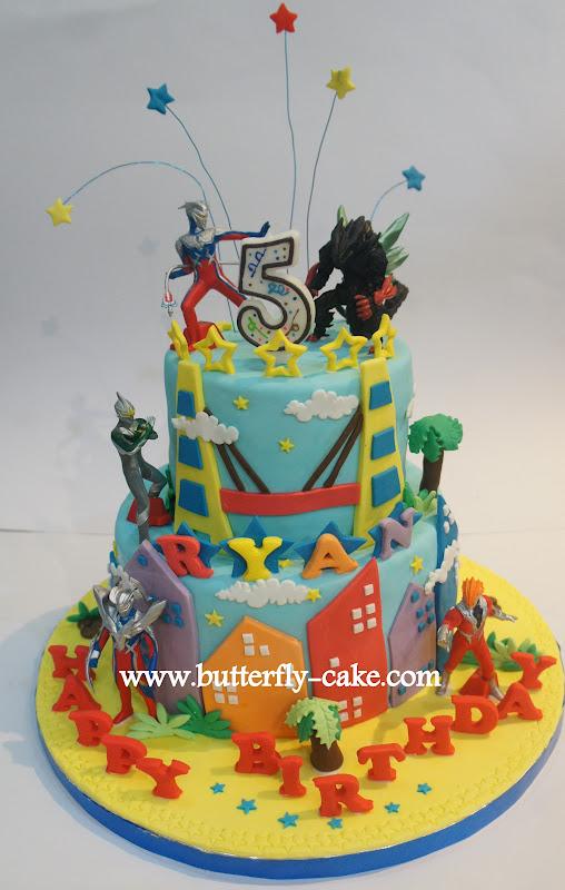 Butterfly Cake Ultraman Zero Cake