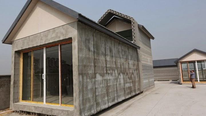 منزل ضخم بفضل تقنية الطباعة ثلاثية الأبعاد