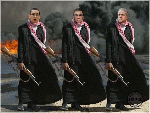 Petrol şi Gaze – Funny photo Adrian Năstase, Răzvan Ungureanu, Victor Ponta