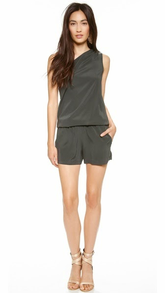 Lulu one shoulder romper by Ramy Brook