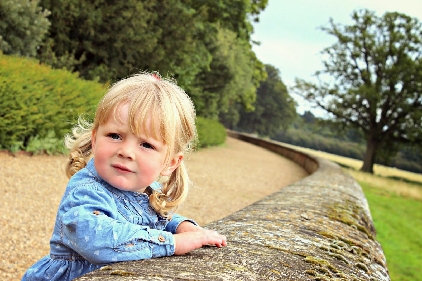 Ickworth House with a toddler