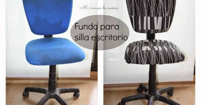 Mi rinc n de sue os hacer funda para silla de escritorio for Fundas de sillas ikea