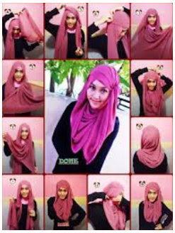 Kumpulan Tutorial Cara Pakai Hijab Modern Syar'i Terbaru