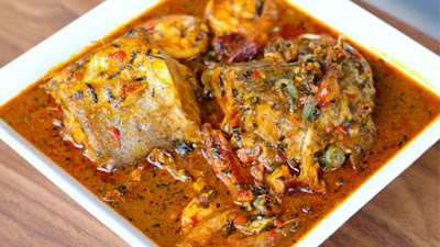 Atama Soup Prepared With Abak (Banga Soup)