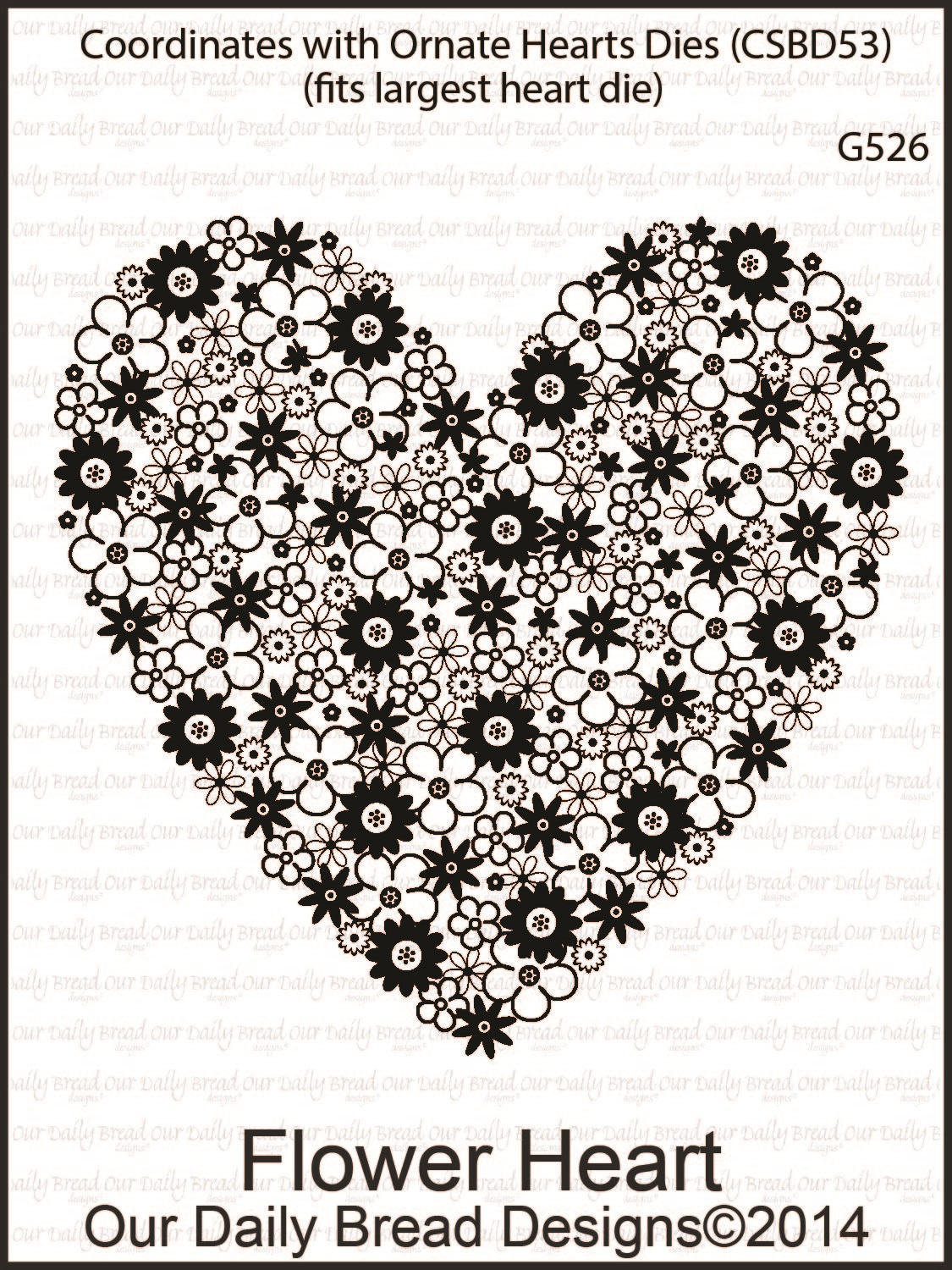 Stamps - Our Daily Bread Designs Flower Heart