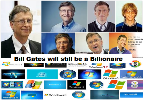 Bill Gates will still be a Billionaire Even if He Gives Away 98% of His Wealth