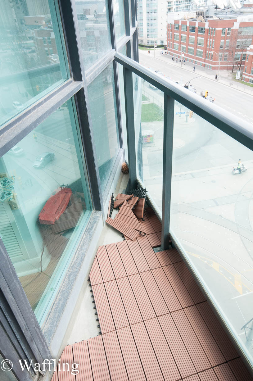 Waffling upgrade to the balcony for Balcony upgrade