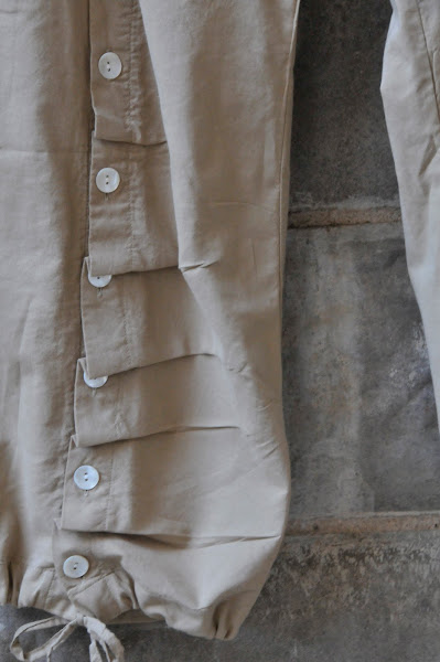 Button detail on Pants