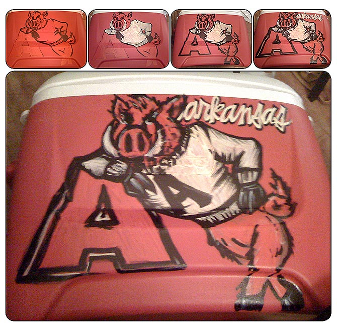 Creative Design By Allyson Throwback Old School Razorback Cooler