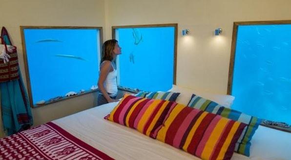 manta resort underwater, under the sea bedroom review
