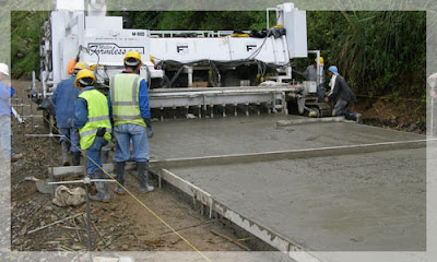 Colocación de pavimento rígido