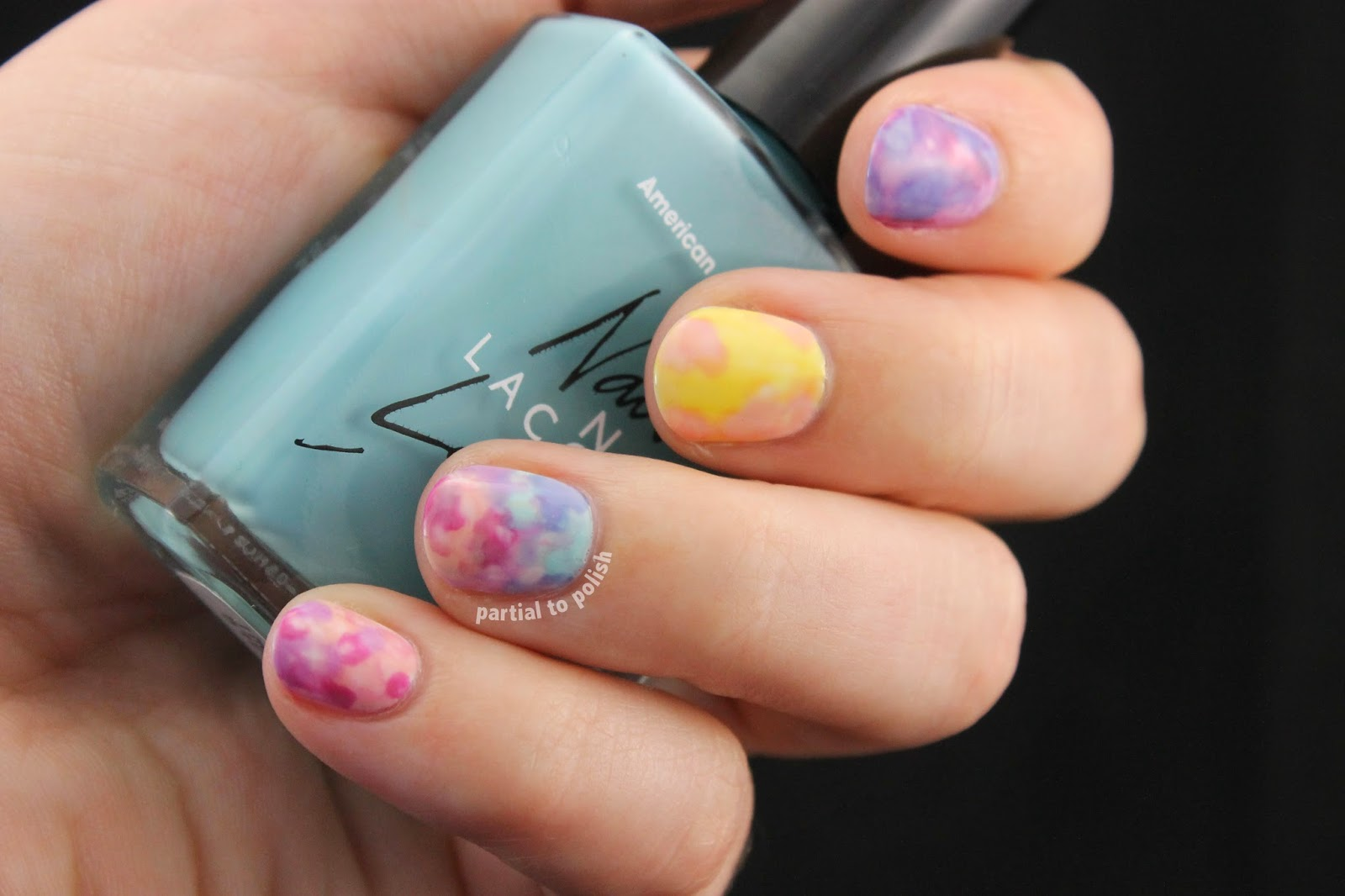 Watercolour Easter Egg Nail Art Featuring American Apparel Polishes for Nail Crazy in April