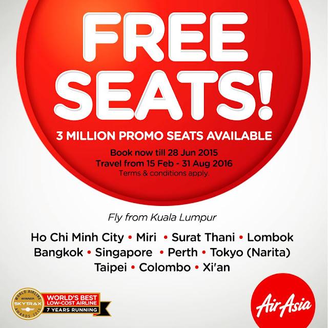 Promosi Tiket Percuma Dari AirAsia