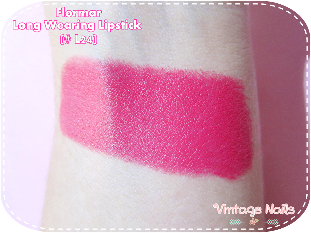 flormar, labial, lipstick, review, swatch, long wearing lipstick, cruelty-free