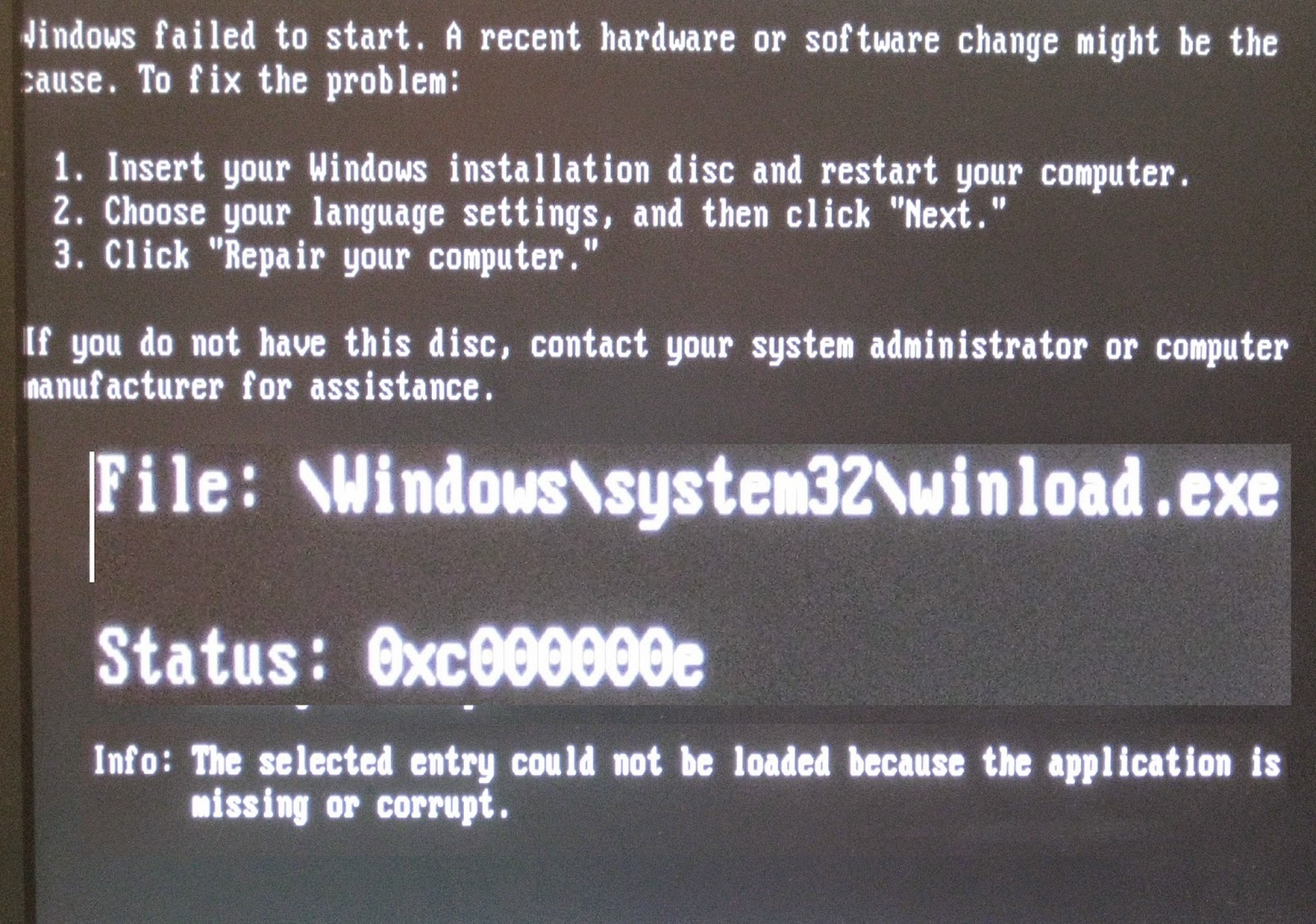 file windows system32 winload.exe windows 10