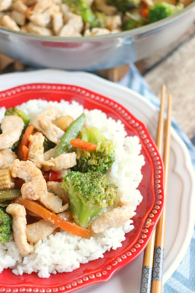 Pork and Veggie Stir Fry - How to Velvet Meat