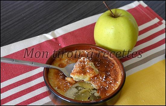 flans aux pommes sans lait