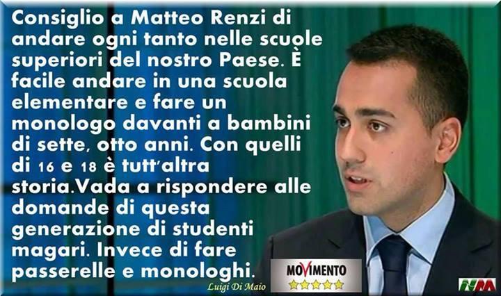 Di Maio a Renzi