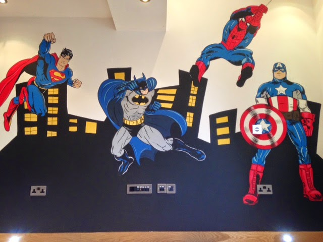 Joanna perry top mural artist hand painting murals for Batman wall mural uk