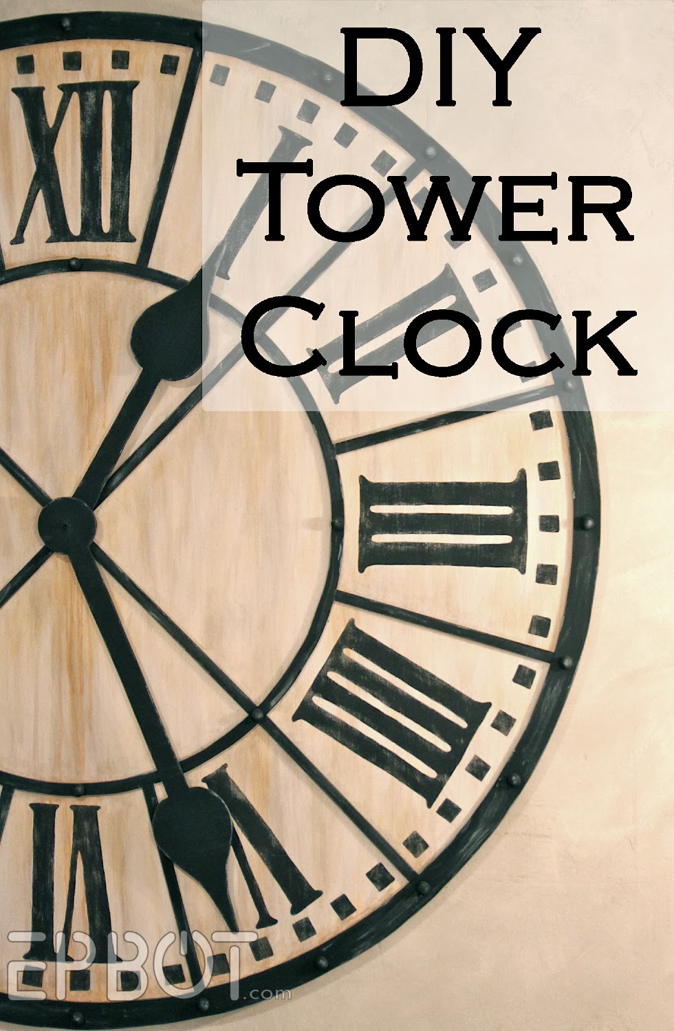 Epbot diy giant tower wall clock amipublicfo Choice Image