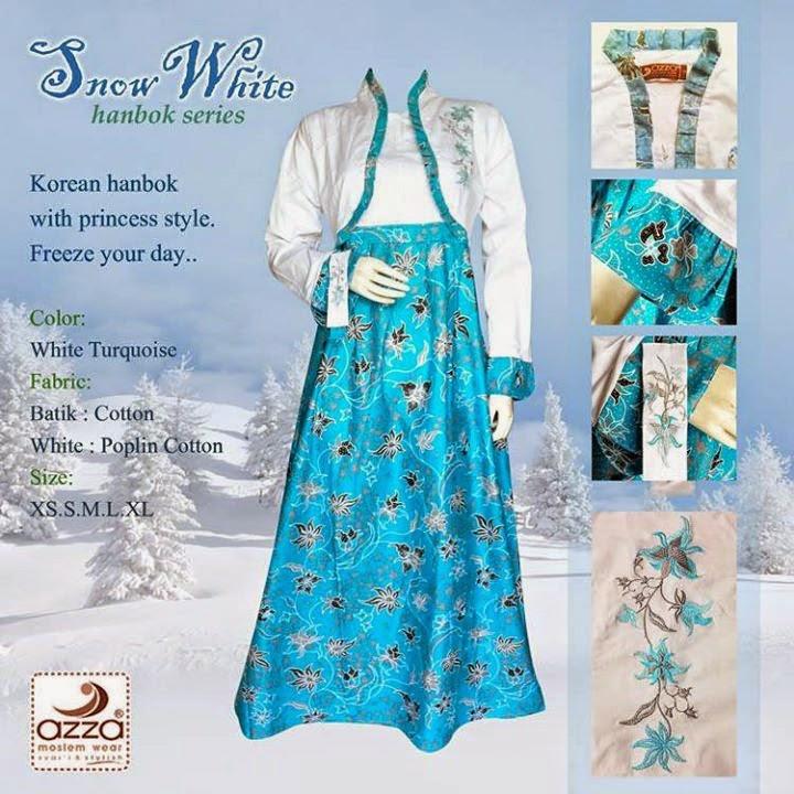 Grosir Gamis Batik Snow White