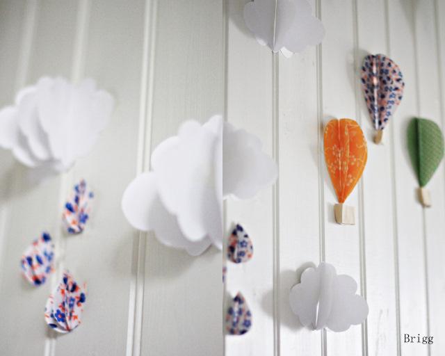 Baby deco diy globos de aire de papel para decorar las - Papel para decorar ...