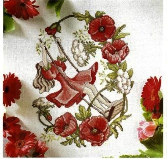 Вышивка крестом цветы лютики