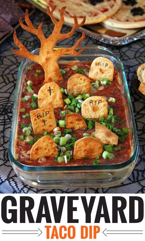 Graveyard Taco Dip @northmanspartyvamps.com