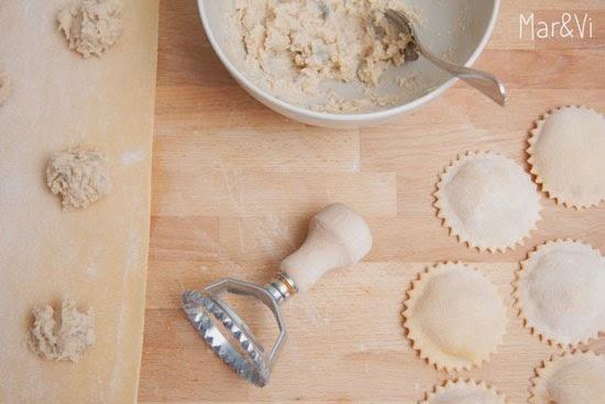 Receta de tortelloni de pera y gorgonzola