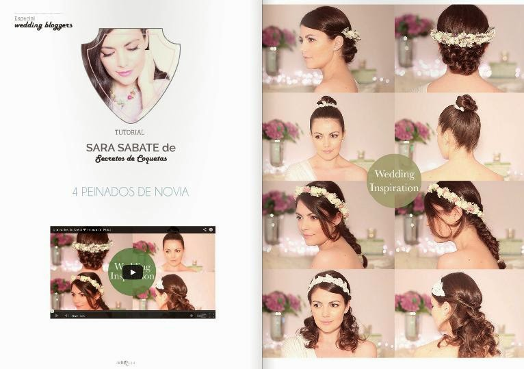 cuatro peinados de novia DIY de Sara Sabate Secretos de Coquetas blog de bodas Mi Boda gratis