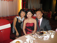 Emcee Gina with bridal couple Krystle and Kenneth