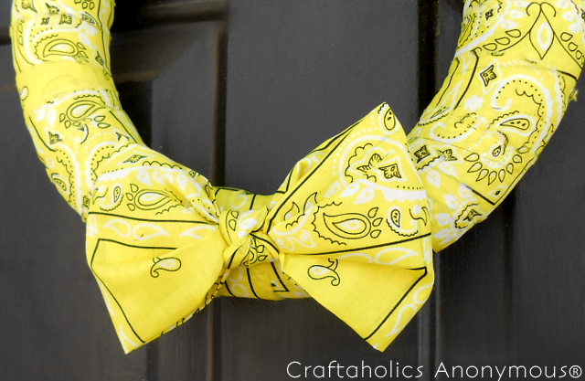 Easy Bandana Wreath from my3monsters.com on Craftaholics Anonymous®