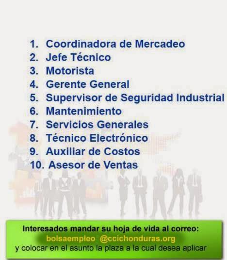 Bolsa de Empleos CCIC - 02/04/14 - Empleos en Honduras