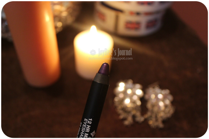 pakistani beauty blog, jordana review pakistan, jordana made to last eye shadow pencil prolong purple review swatches