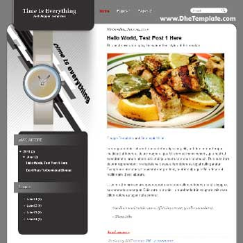 Time Is Eveerything Blogger Template. template for personal blog