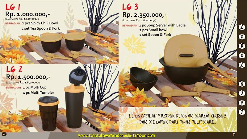 Level Gift Tulipware Tupperware September - Oktober 2014