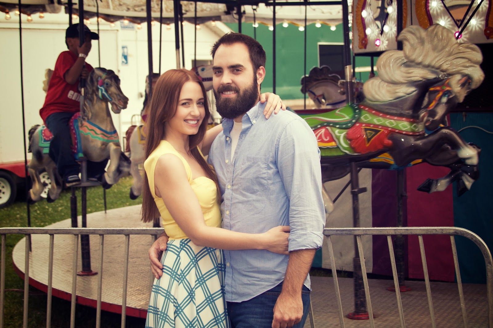 Ingham County Fair Engagement Session. Photo by Tammy Sue Allen Photography.