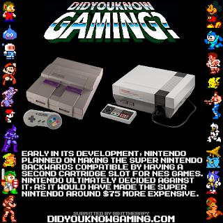 snes backwards compatible fact Random Game Facts   SNES Was Backwards Compatible At One Point
