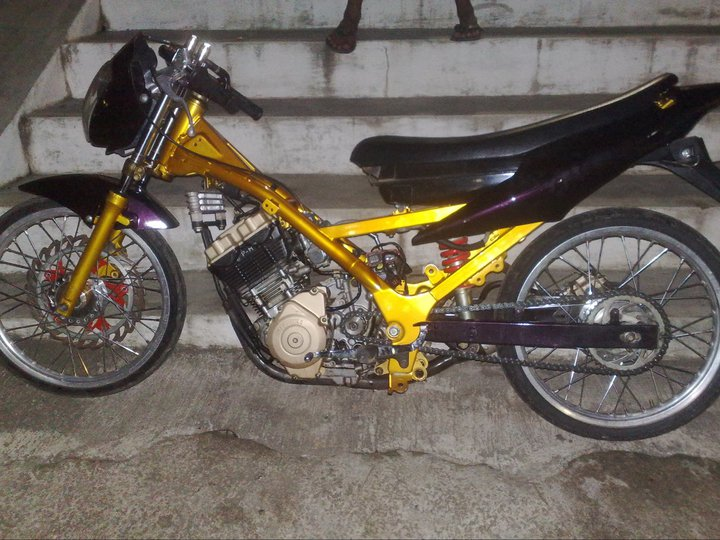 Motor Drag Satria Fu Modification Motorcycle Yamaha