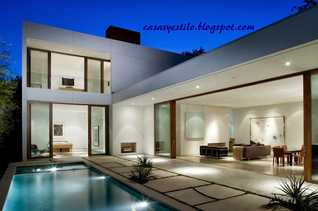 Casa moderna modelo casas y estilo for Modelos de sala de casa