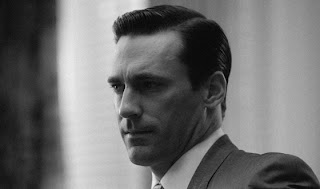 Don Draper, Jon Hamm, Mad Men, black and white