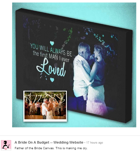 father of the bride canvas